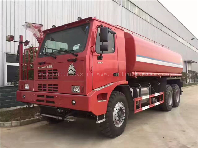 Hot Sale 40 cbm  water tank truck of howo for Mining
